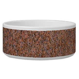 Dark rust pet water bowl