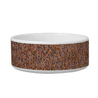 Dark rust cat water bowls