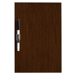 Dark Rustic Grainy Wood Background Dry-Erase Board