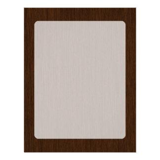 Dark Rustic Grainy Wood Background Letterhead