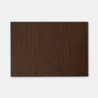 Dark Rustic Grainy Wood Background Post-it Notes