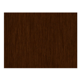 Dark Rustic Grainy Wood Background Postcard