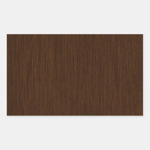 Dark Rustic Grainy Wood Background Rectangle Sticker