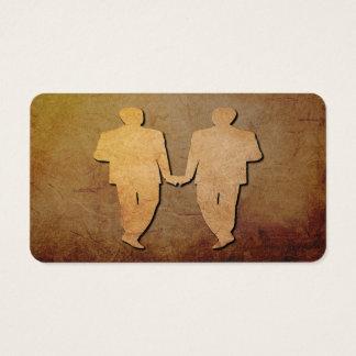 Dark Rustic Grooms Gay Wedding Business Card