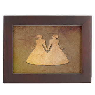 Dark Rustic Keepsake Box for Lesbian Brides