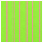 [ Thumbnail: Dark Salmon and Chartreuse Colored Lines Fabric ]