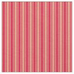 [ Thumbnail: Dark Salmon and Crimson Lines/Stripes Pattern Fabric ]