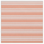 [ Thumbnail: Dark Salmon and Lavender Stripes Fabric ]
