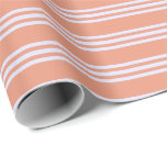 [ Thumbnail: Dark Salmon and Lavender Stripes Wrapping Paper ]