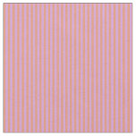 [ Thumbnail: Dark Salmon and Plum Colored Striped Pattern Fabric ]