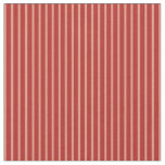 [ Thumbnail: Dark Salmon and Red Colored Striped/Lined Pattern Fabric ]