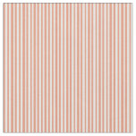 [ Thumbnail: Dark Salmon and White Stripes Pattern Fabric ]