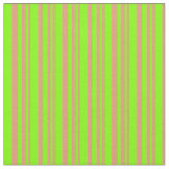 [ Thumbnail: Dark Salmon & Chartreuse Colored Lines Fabric ]