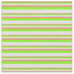 [ Thumbnail: Dark Salmon, Chartreuse & Lavender Lines Fabric ]