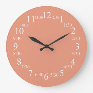 Dark Salmon Classic Color Matched Wall Clocks
