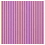 [ Thumbnail: Dark Salmon & Dark Orchid Colored Stripes Pattern Fabric ]