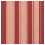 [ Thumbnail: Dark Salmon & Dark Red Lined Pattern Fabric ]
