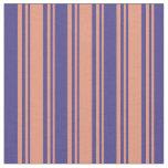 [ Thumbnail: Dark Salmon & Dark Slate Blue Colored Pattern Fabric ]