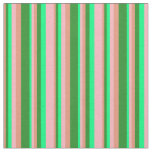 [ Thumbnail: Dark Salmon, Forest Green, Green, and Light Pink Fabric ]