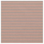 [ Thumbnail: Dark Salmon & Gray Colored Lined/Striped Pattern Fabric ]