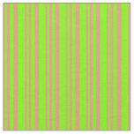 [ Thumbnail: Dark Salmon & Green Pattern Fabric ]