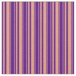 [ Thumbnail: Dark Salmon & Indigo Colored Stripes Fabric ]