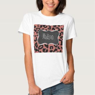 Dark Salmon Leopard; Chalkboard T-Shirt