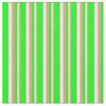 [ Thumbnail: Dark Salmon, Light Yellow, and Lime Stripes Fabric ]