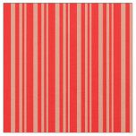 [ Thumbnail: Dark Salmon & Red Lines/Stripes Pattern Fabric ]
