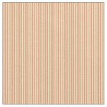 [ Thumbnail: Dark Salmon & Tan Lines/Stripes Pattern Fabric ]