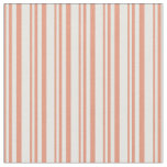 [ Thumbnail: Dark Salmon & White Colored Pattern Fabric ]