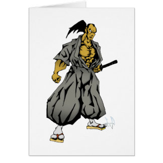Dark Samurai Greeting Cards