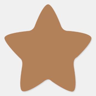 Dark Sandy Beige Coffee Caramel Brown Color Only Star Sticker
