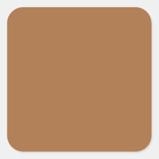 Dark Sandy Beige Coffee Caramel Brown Color Only Stickers