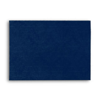 Dark Sapphire Blue Damask Custom Linen Wedding A-7 Envelope