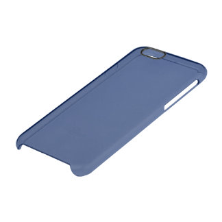Dark Sapphire Solid Color Uncommon Clearly™ Deflector iPhone 6 Case