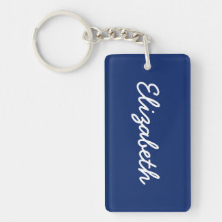 Dark Sapphire Solid Color Keychain