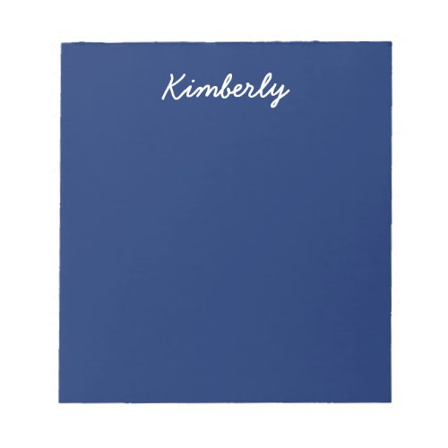 Dark Sapphire Solid Color Notepad