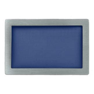 Dark Sapphire Solid Color Rectangular Belt Buckles