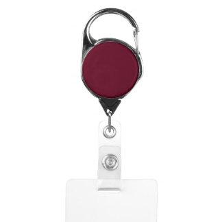 Dark Scarlet Badge Holder