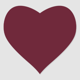 Dark Scarlet Red Heart Sticker