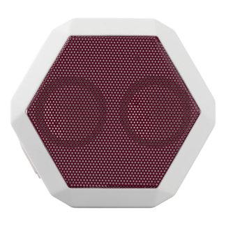 Dark Scarlet Red White Bluetooth Speaker