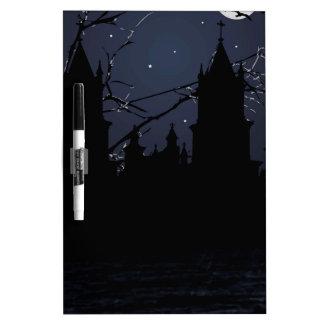 Dark Scene Illustration Print Dry-Erase Board