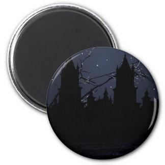 Dark Scene Illustration Print Magnet