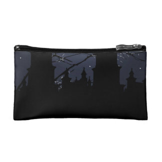 Dark Scene Illustration Print Makeup Bag