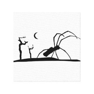 Dark Scene Silhouette Style Graphic Illustration Canvas Print