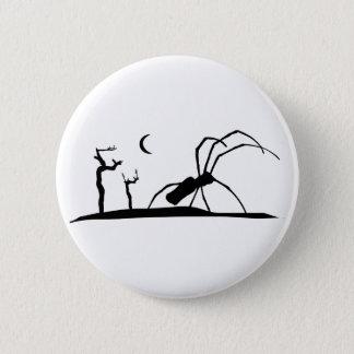 Dark Scene Silhouette Style Graphic Illustration Pinback Button