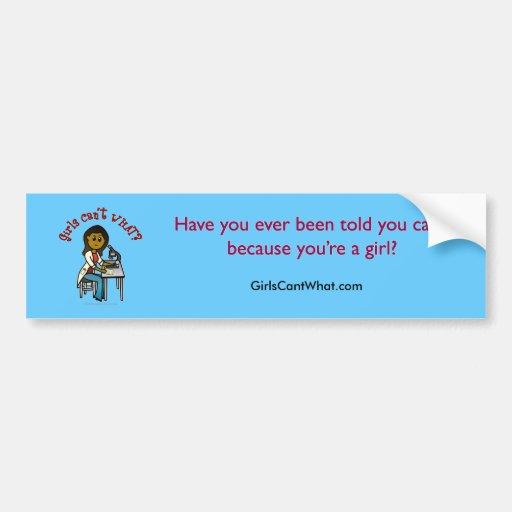Dark Scientist Girl Bumper Stickers