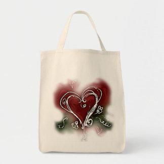 Dark Scribbly Heart Tote Bag