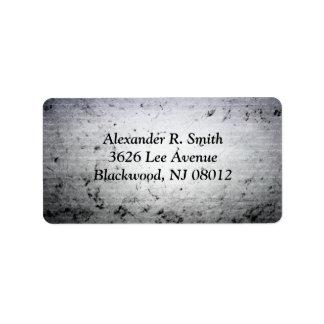 Dark Script Address Label